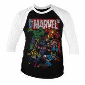 Marvel Comics - Team-Up Baseball 3/4 Sleeve Tee, Baseball 3/4 Sleeve Tee