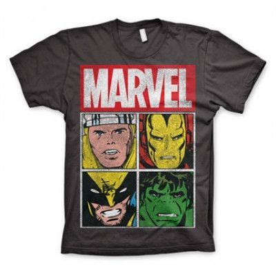 Marvel Distressed Characters T-Shirt, Basic Tee