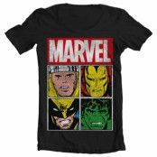 Marvel Distressed Characters Wide Neck Tee, Wide Neck T-Shirt