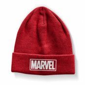 Marvel Red Logo Beanie, Knitted Beanie