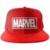 Marvel Red Logo Snapback Cap, Adjustable Snapback Cap