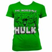 The Incredible Hulk Girly T-Shirt, Girly T-Shirt