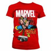 The Mighty Thor Girly T-Shirt, Girly T-Shirt