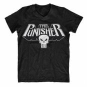 The Punisher Logo V-Neck T-Shirt, V-Neck T-Shirt