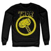 Thor Distressed Hammer Sweatshirt, Sweatshirt
