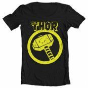 Thor Distressed Hammer Wide Neck T-Shirt, Wide Neck T-Shirt