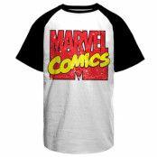 Vintage Marvel Comics Logo Baseball T-Shirt, Baseball T-Shirt