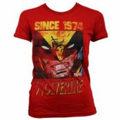 Wolverine Since 1974 Girly T-Shirt, Girly T-Shirt