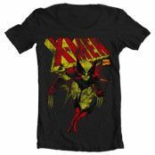 X-Men Distressed Wide Neck Tee, Wide Neck T-Shirt