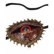 Ögonlapp med Öga och Skinnimiterat Reptilmönster