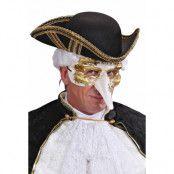 Ögonmask Veneziansk guld/vit