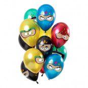 Ballonger Flerfärgade Superhjältar - 12-pack