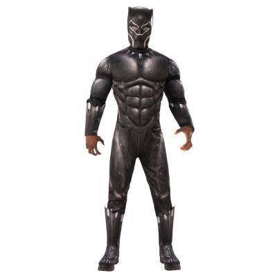 Black Panther Deluxe Maskeraddräkt Xlarge