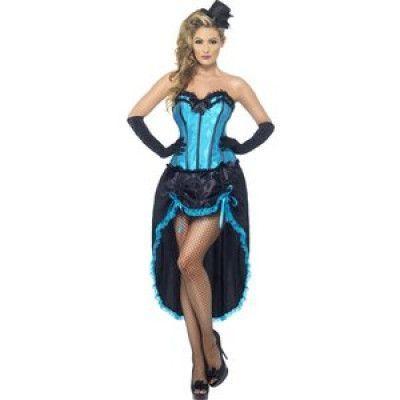 Burlesk Dans maskeraddräkt blå/svart