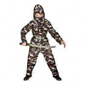 Delta Force Ninja Barn Maskeraddräkt - Large