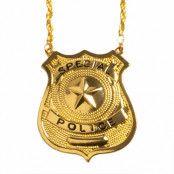 Halsband, polisbricka guld