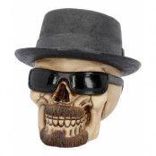 Badass - Dödskallefigur med Hatt och Glasögon 16 cm