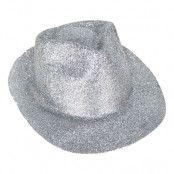 Cowboyhatt Glitter Silver - One size