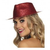 Gnistrande Röd Hatt - One size