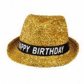 Hatt, guld happy birthday