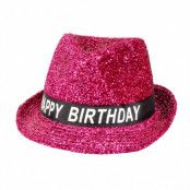 Hatt, rosa happy birthday