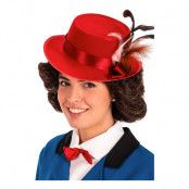 Mary Peruk med Hatt - One size