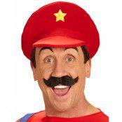 Röd Mario Inspirerad Hatt med Stjärna