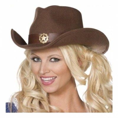 Vilda Västern Cowgirl Hatt - One size