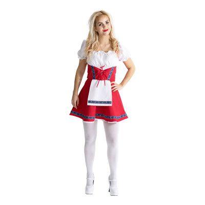 Klänning Röd/Vit/Blå Maskeraddräkt - X-Small