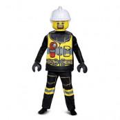 LEGO Brandman Deluxe Maskeraddräkt Barn, MEDIUM