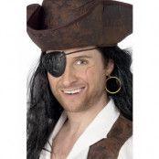 Piratpaket med Ögonlapp och Clip-on Örhänge Maskeradtillbehör