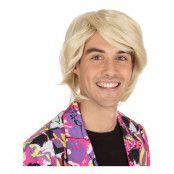 80-tals Blond Peruk Herr - One size
