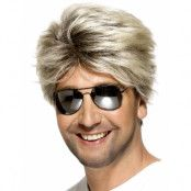 80-Tals Kort Blond Peruk Till Man