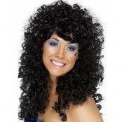 80s Black Boogie Babe Wig