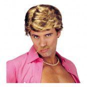 Casanova Blond Peruk med Mustasch - One size