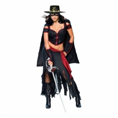 Lady Zorro Maskeraddräkt
