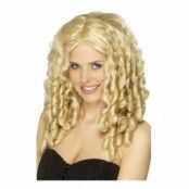 Lockig Blond Peruk - One size