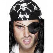 Svart Pirat Patch (Kostym Tillbehör)