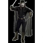 V For Vendetta Maskeraddräkt, XL