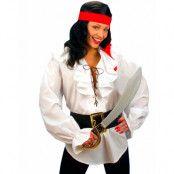 Vit Pirat Kostym Blus