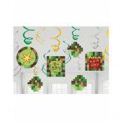 6 stk Hängande Dekorationer - Minecraft