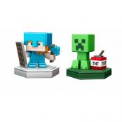 Minecraft Boost Mini Figure 2-Pack Alex and Creeper