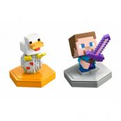 Minecraft Boost Mini Figure 2-Pack Steve and Companion