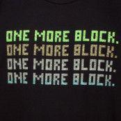 Minecraft One More Block T-shirt Svart