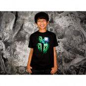 Minecraft Three Creeper Moon - Barn T-shirt