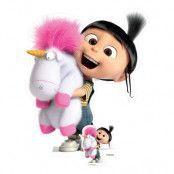 Agnes med Fluffig Enhörning Kartongfigur