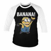 Minions - Banana! Baseball 3/4 Sleeve Tee, Long Sleeve T-Shirt