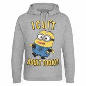 Minions - I Can't Adult Today Epic Hoodie, Epic Hooded Pullover
