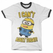 Minions - I Can't Adult Today Ringer Tee, Ringer Tee