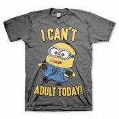 Minions - I Can't Adult Today T-Shirt, Basic Tee